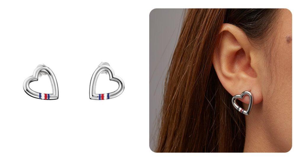Női sebészeti acél fülbevaló - Tommy Hilfiger