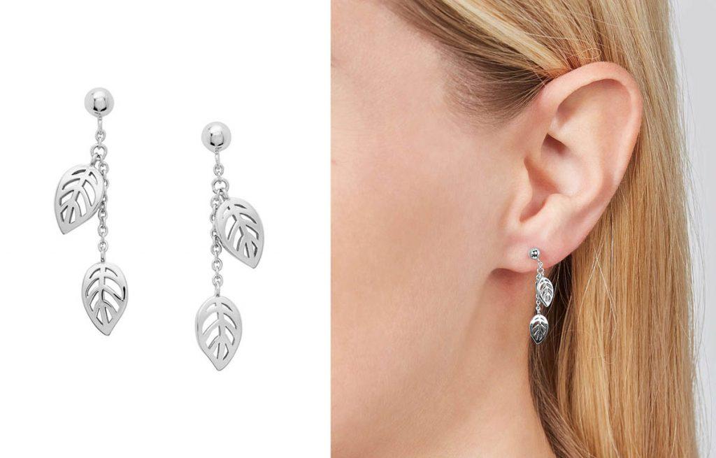 Fossil függő ezüst fülbevaló