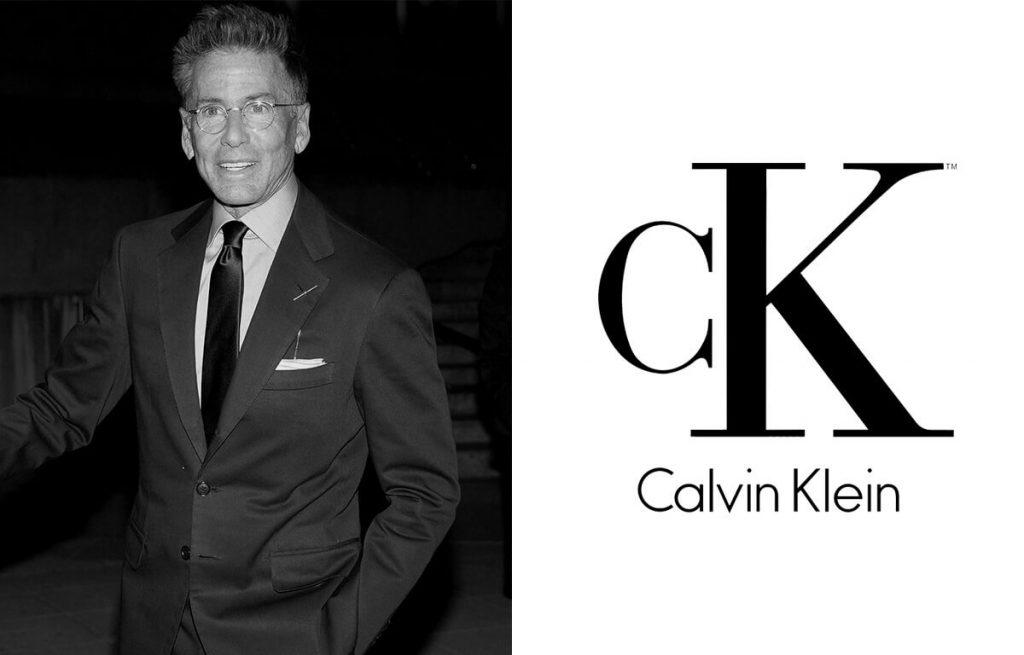 Calvin Klein divattervező és a márka logója