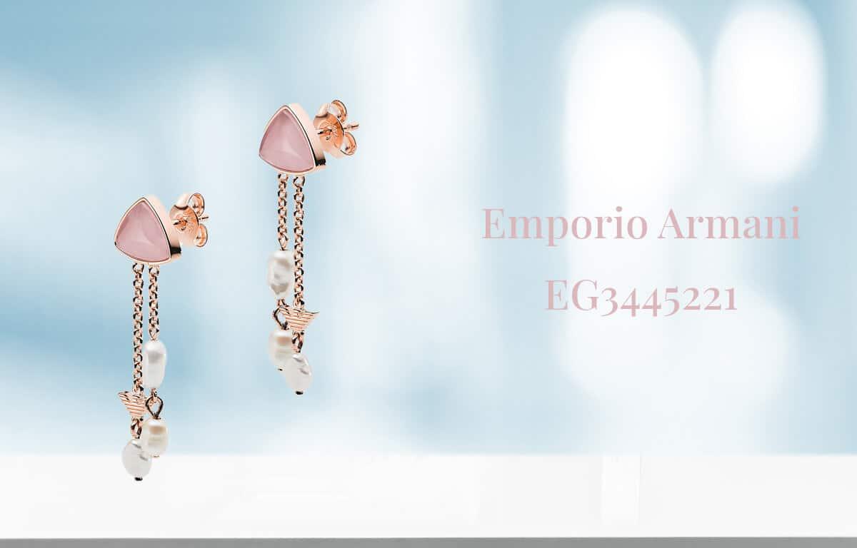 Emporio Armani aranyozott fülbevaló - függő