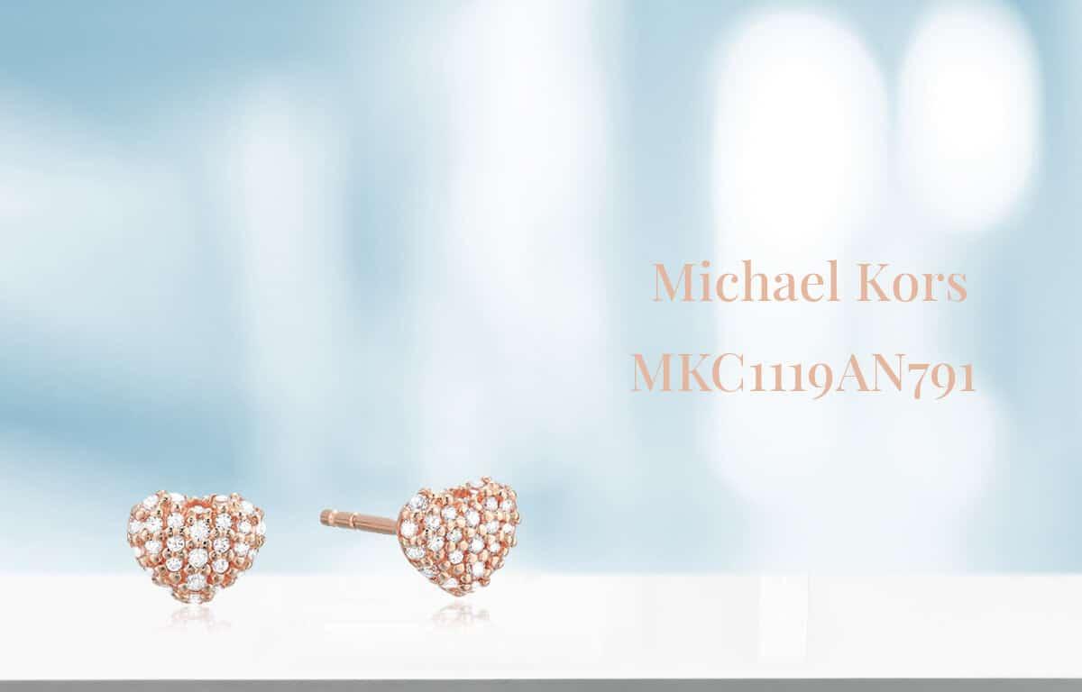 Apró szív alakú Michael Kors aranyozott fülbevaló