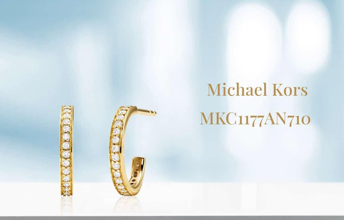 Aranyozott Michael Kors fülbevaló díszkövekkel