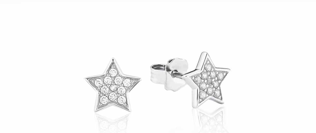 Bedugós fülbevaló - csillagok / Fossil